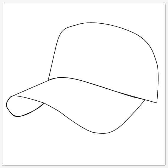 Create Baseball Cap Social Icons -DesignBump