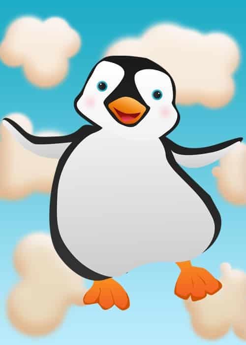 Create a Cute Cartoon Penguin & Poster -DesignBump