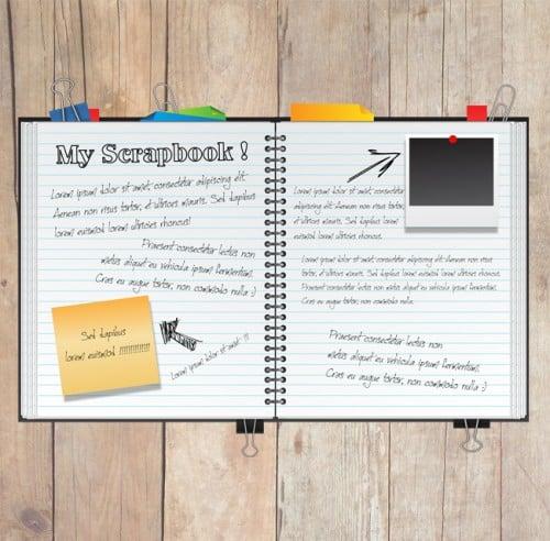 How To Make A Bump Key >> Create a Fun Scrapbook in Illustrator -DesignBump