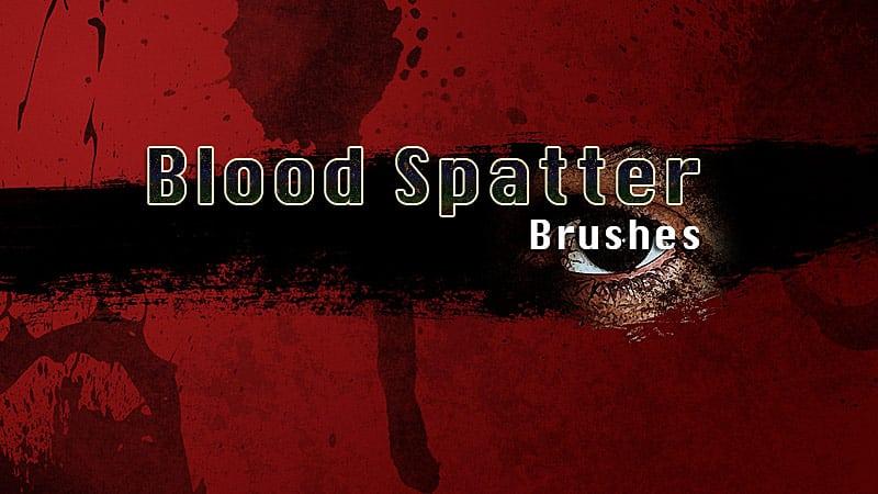 Adobe Photoshop blood spatter brushes