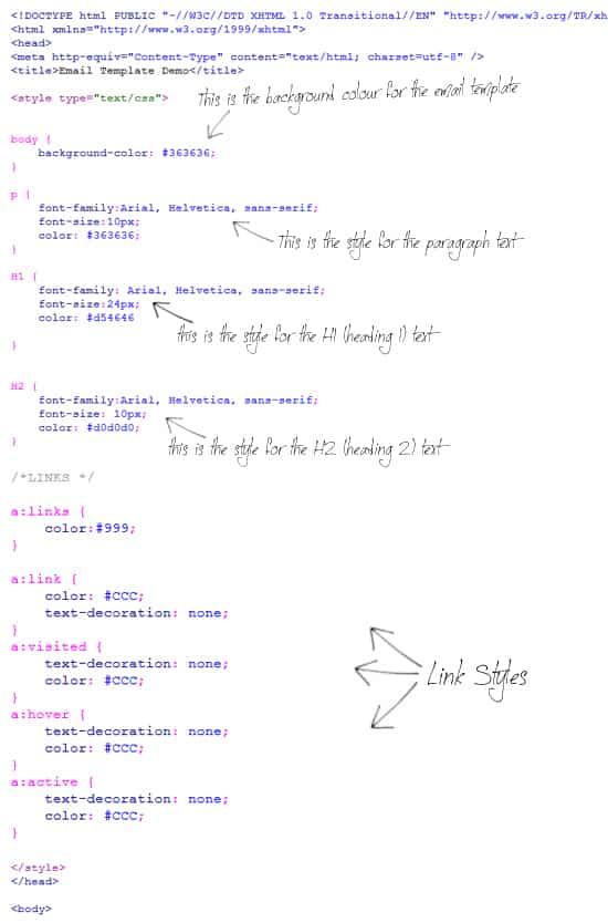 create an html email template from scratch designbump