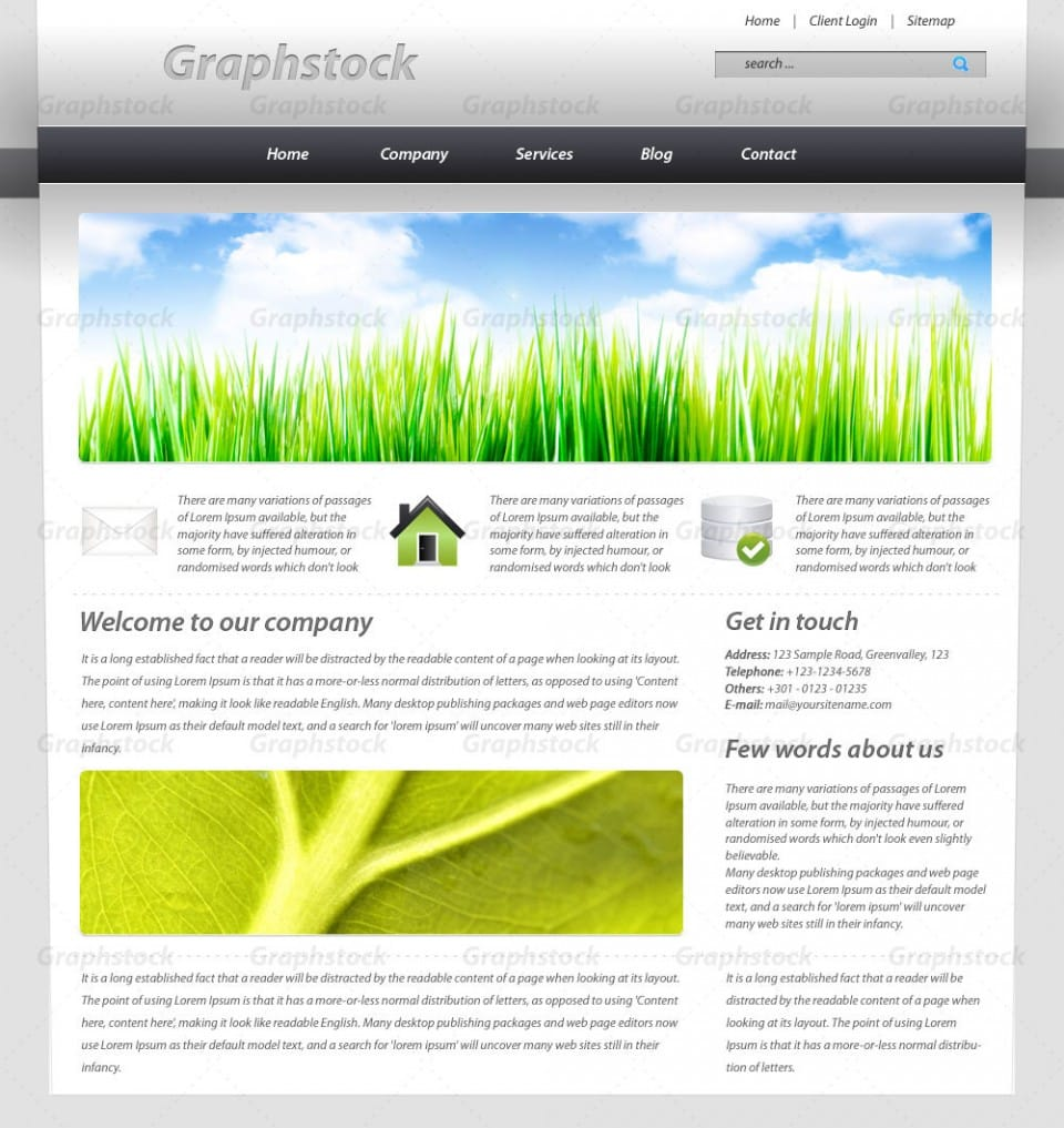Layout photoshop web design website template tutorials tutorial 022 - 8 Create A Business Web Layout In Photoshop