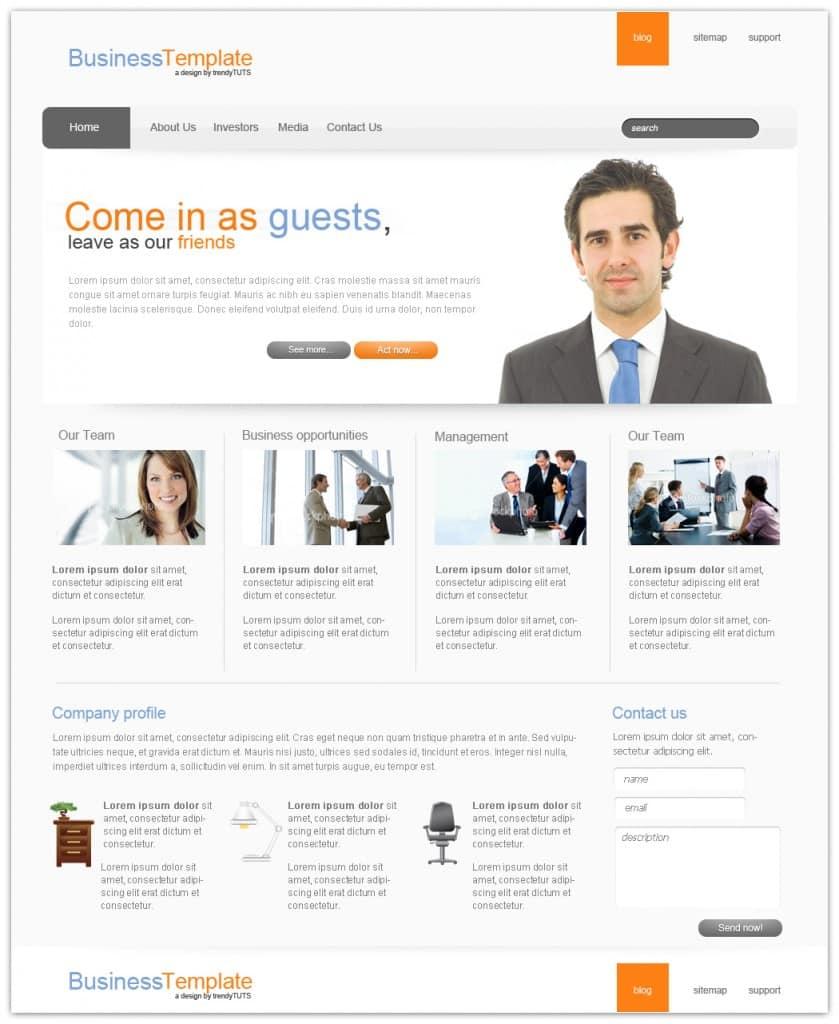 Layout photoshop web design website template tutorials tutorial 022 - Share