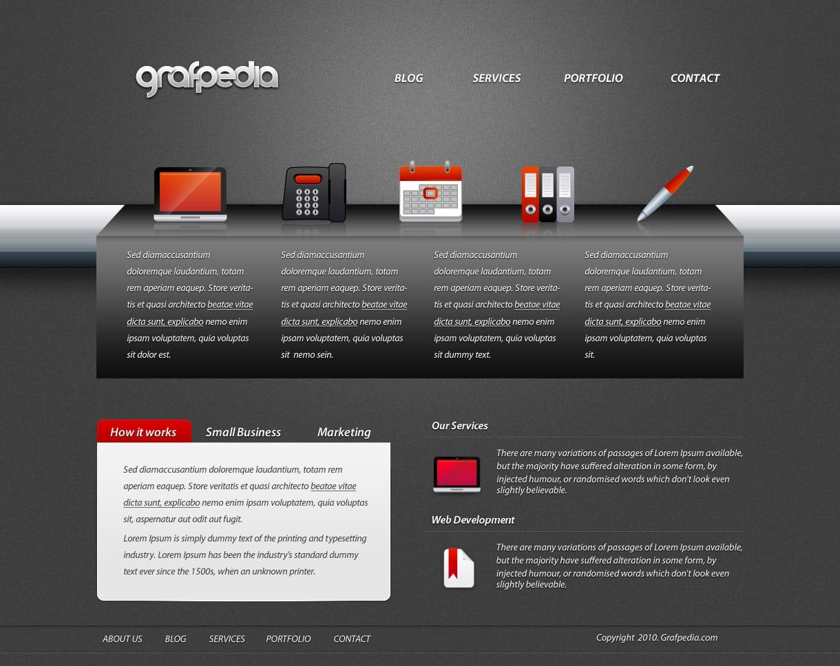 Layout photoshop web design website template tutorials tutorial 022 - 3 Portfolio Layout Design Tutorial