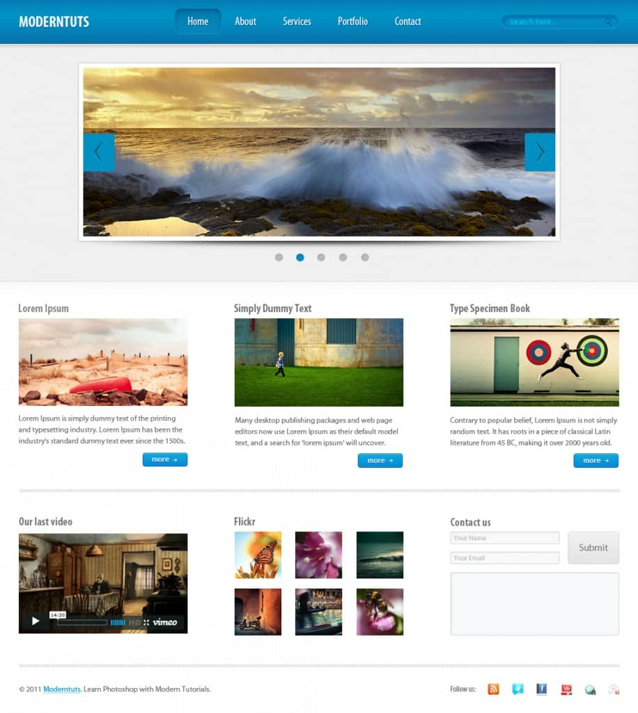Layout photoshop web design website template tutorials tutorial 022 - Facebookhttps Designbump Letsocify Com Subscribestumbleuponpinteresttwitter