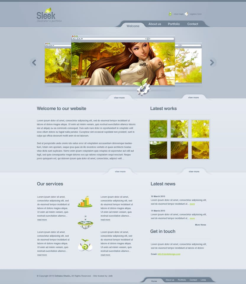 30 attractive website designs for inspiration designbump