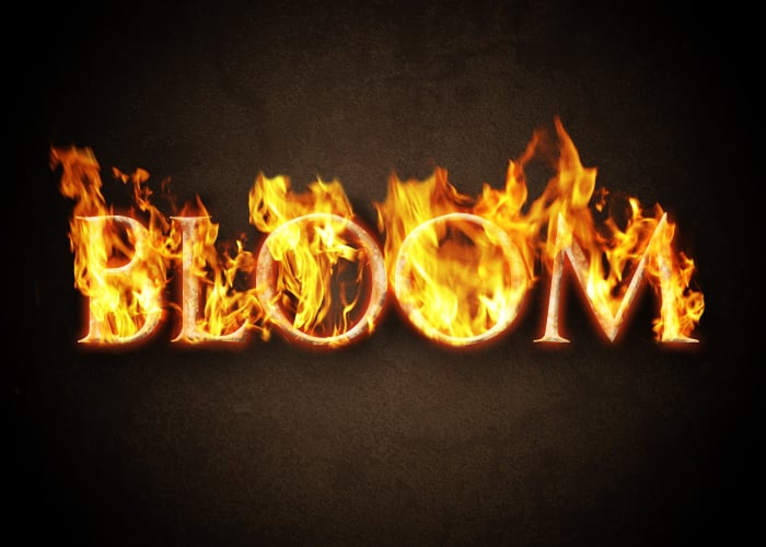 create a blazing fire text effect in photoshop