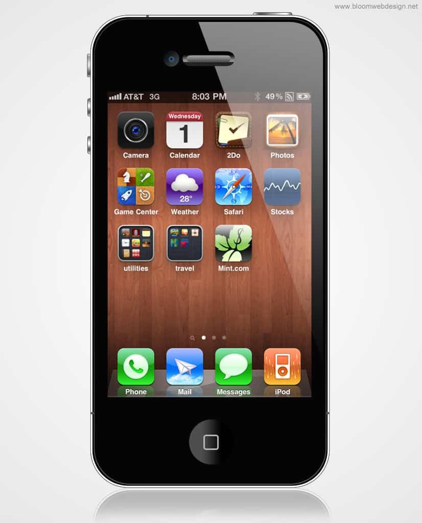 Create An Apple IPhone In Photoshop DesignBump - 826x1024 - jpeg