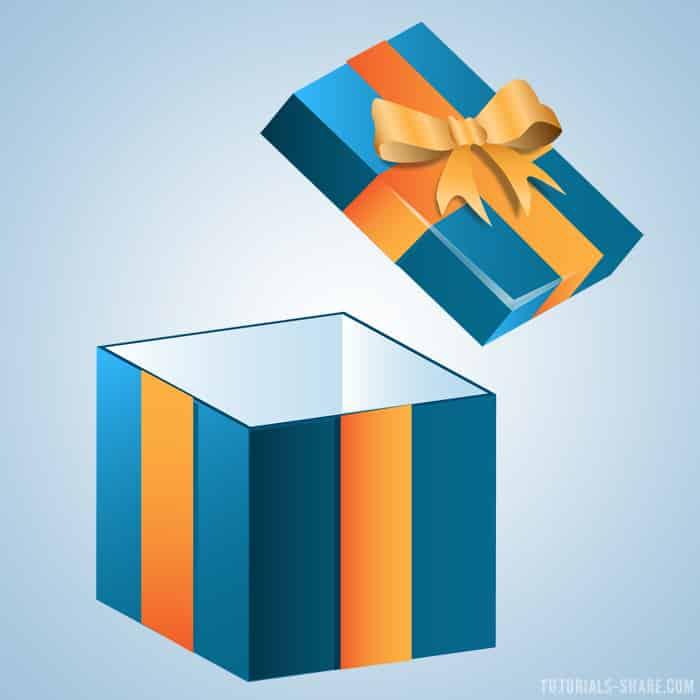 Create An Opened Gift Box Icon In Illustrator Designbump