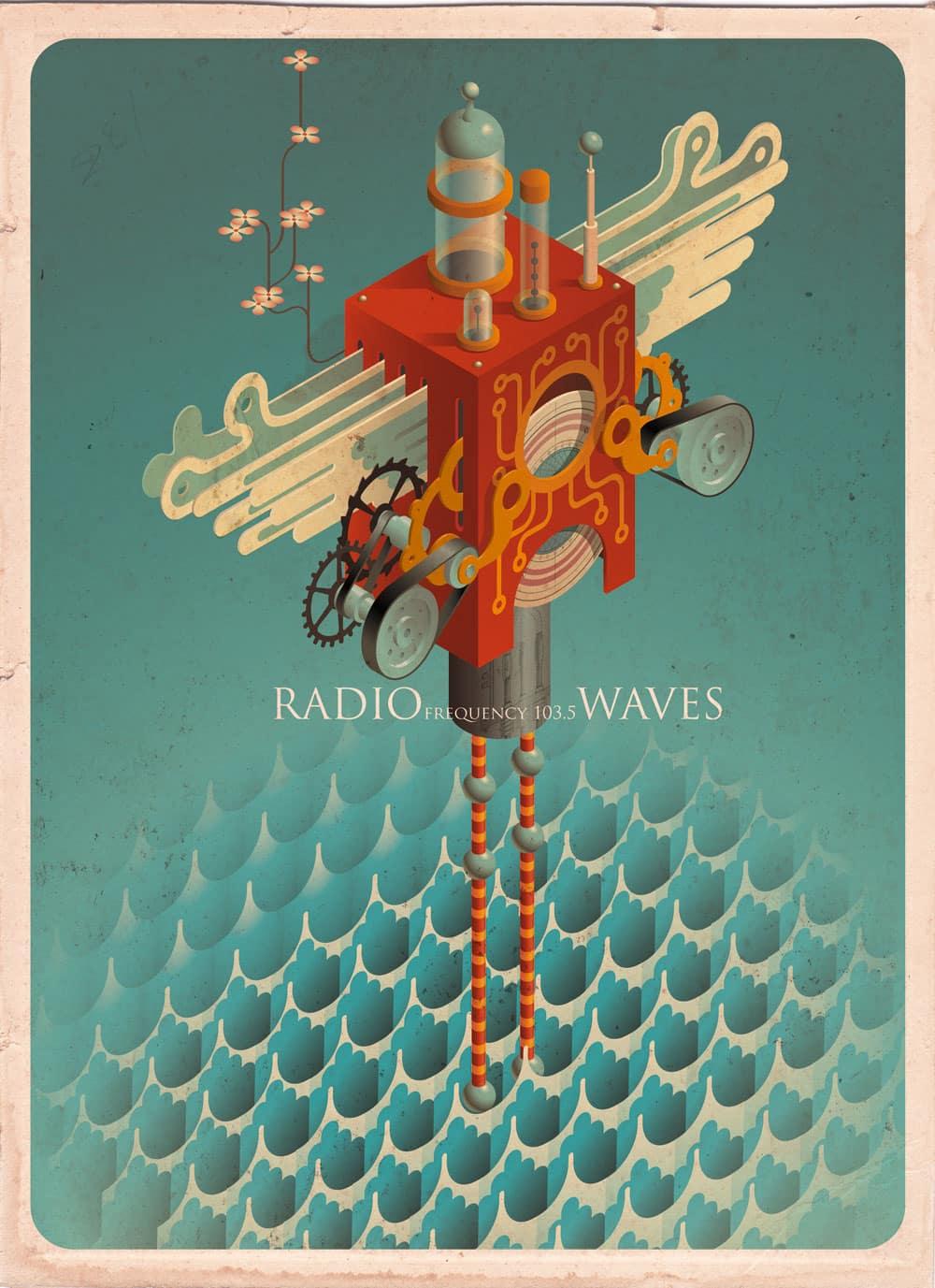 Poster design tutorial - Vintage Vector Textures