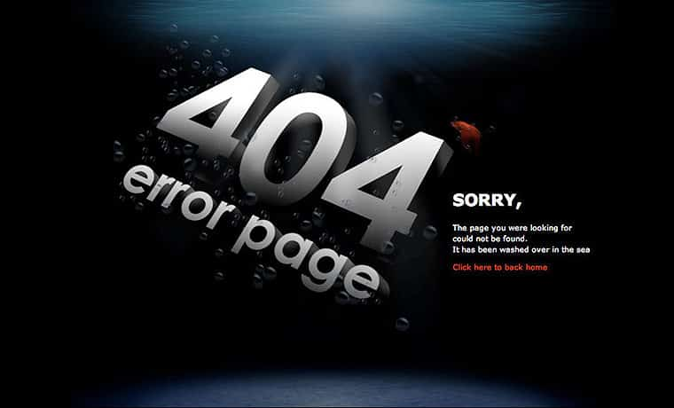 404 Error Page Ideas