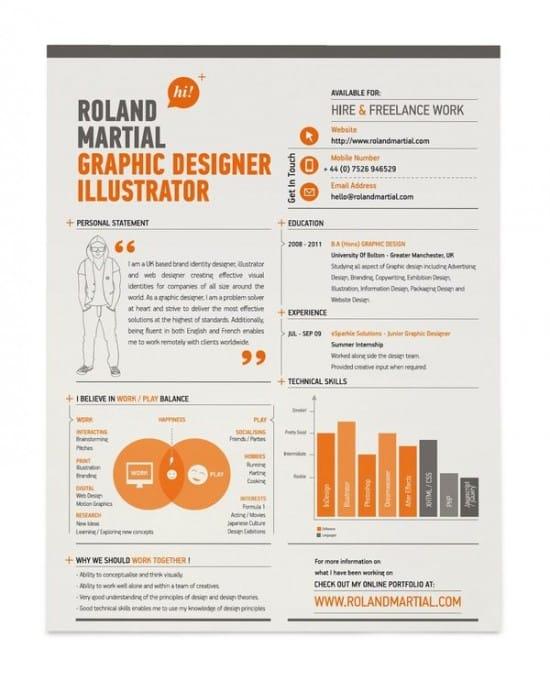 30 excellent resume designs for inspiration designbump