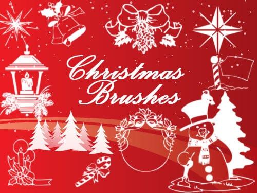 21+ Free Christmas Photoshop Brush Sets -DesignBump