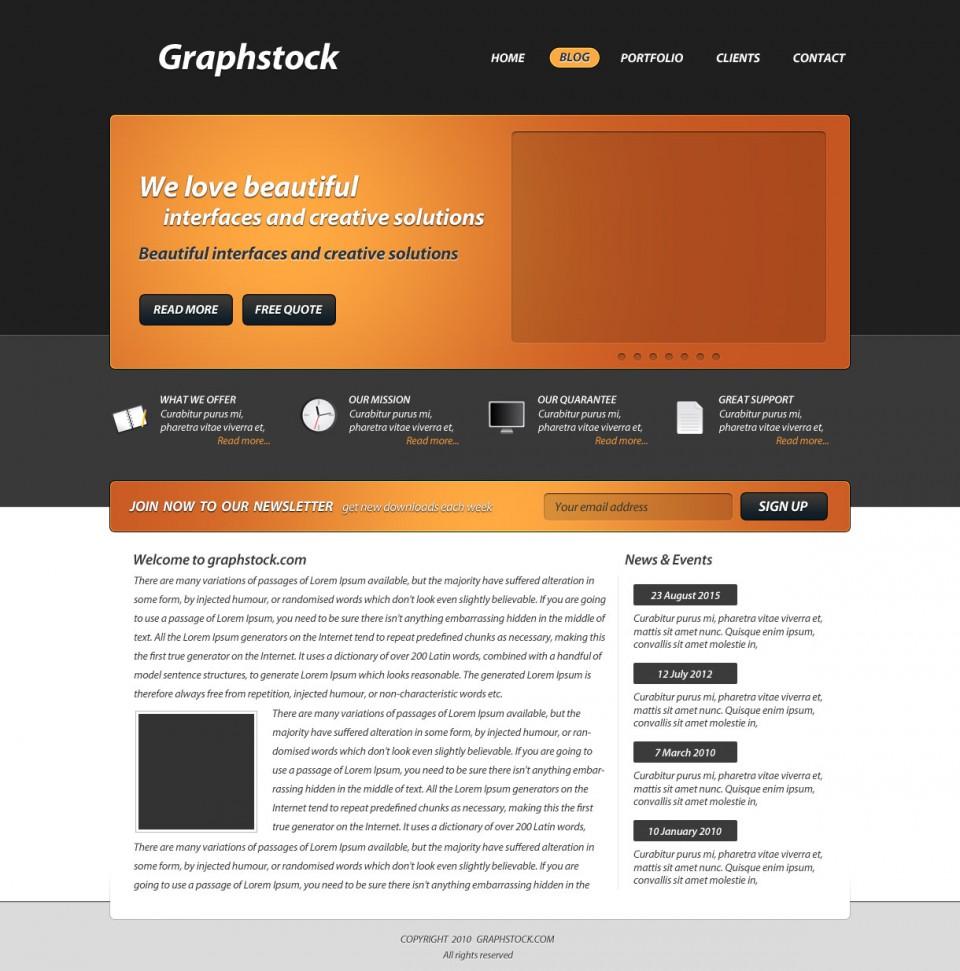 20+ Blog Website Layout Photoshop Tutorials -DesignBump