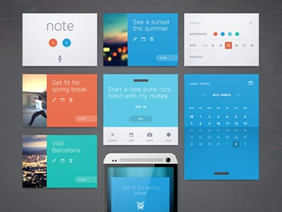 33+ Examples of Flat UI Design for Inspiration -DesignBump
