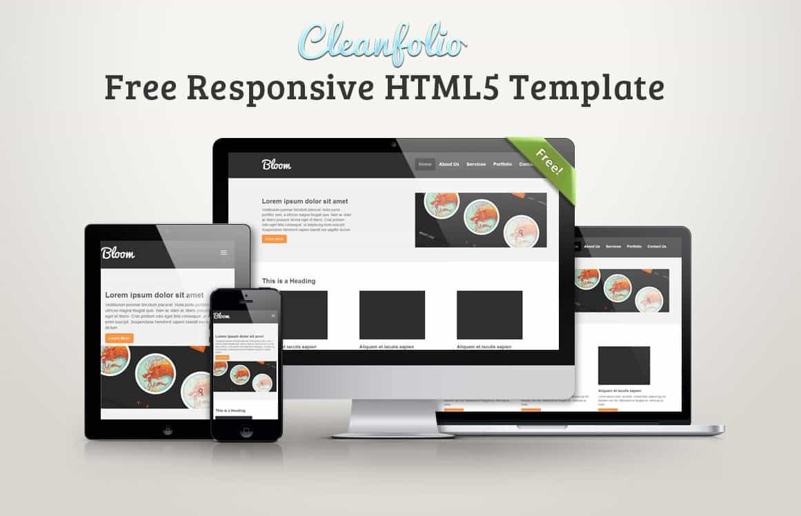 Cleanfolio: Free Responsive HTML5 Template -DesignBump