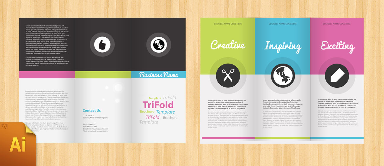 Free Corporate Tri Fold Brochure Template DesignBump – Three Fold Flyer Template