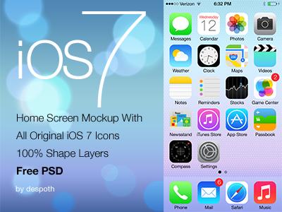 ios splash screen template psd - 33 beautiful ios 7 gui psd kits templates designbump