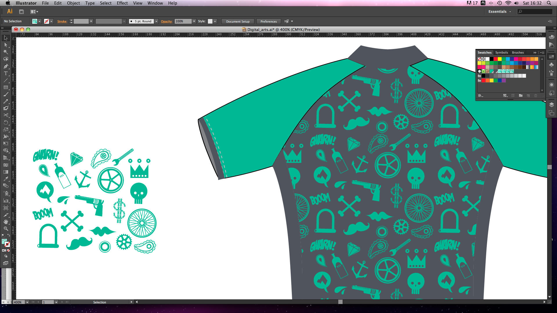 Design t shirt adobe illustrator tutorial - Illustrator Cs6 Tutorials 005