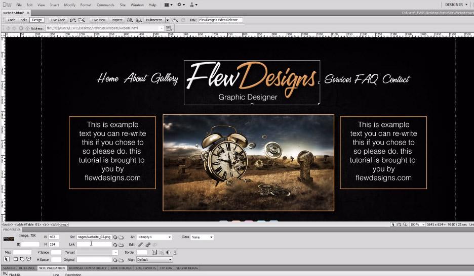 create a static website psd to dreamweaver tutorial designbump