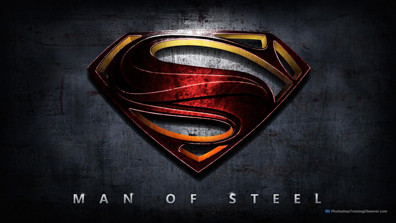 man of steel logo movie poster photoshop tutorial -designbump