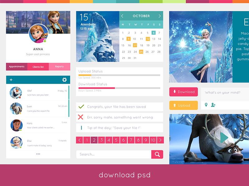 37+ Latest Best UI Kits PSD Files -DesignBump
