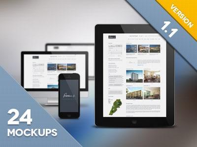 32+ Best PSD Mockup Templates for UI Design -DesignBump