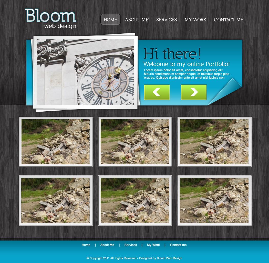 Layout photoshop web design website template tutorials tutorial 022 - Design A Sleek Portfolio Layout In Photoshop