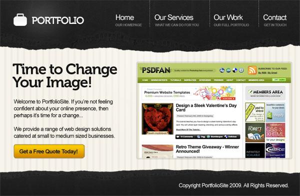 40+ Best Photoshop & Web Development Portfolio Tutorials -DesignBump