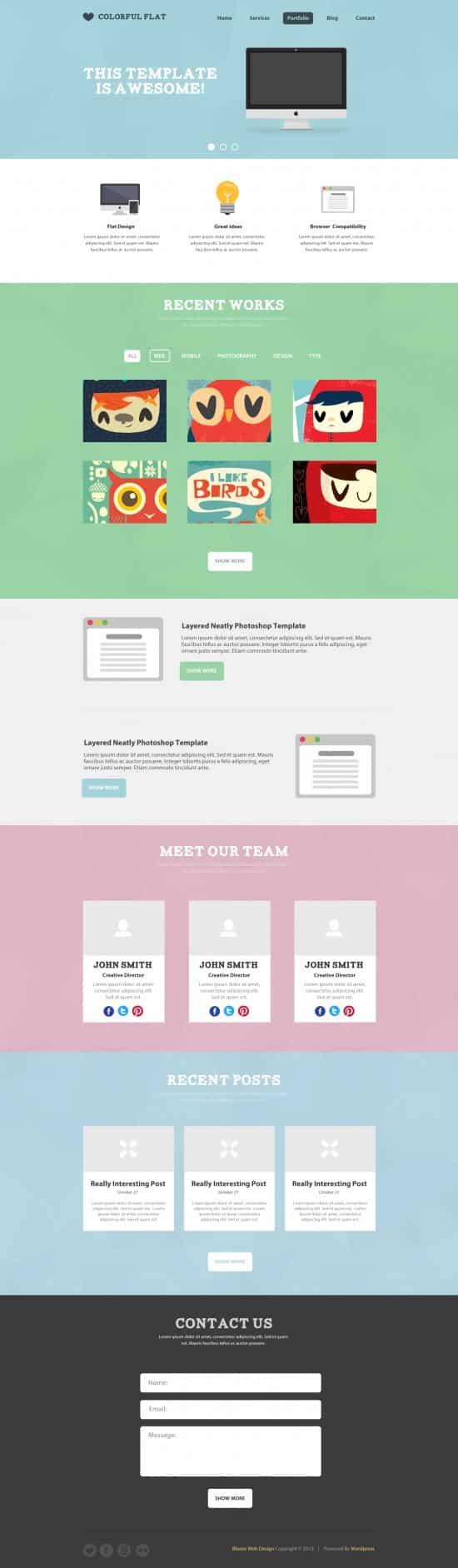 40 high quality psd website templates designbump