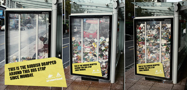 50 creative examples of bus stop ads designbump