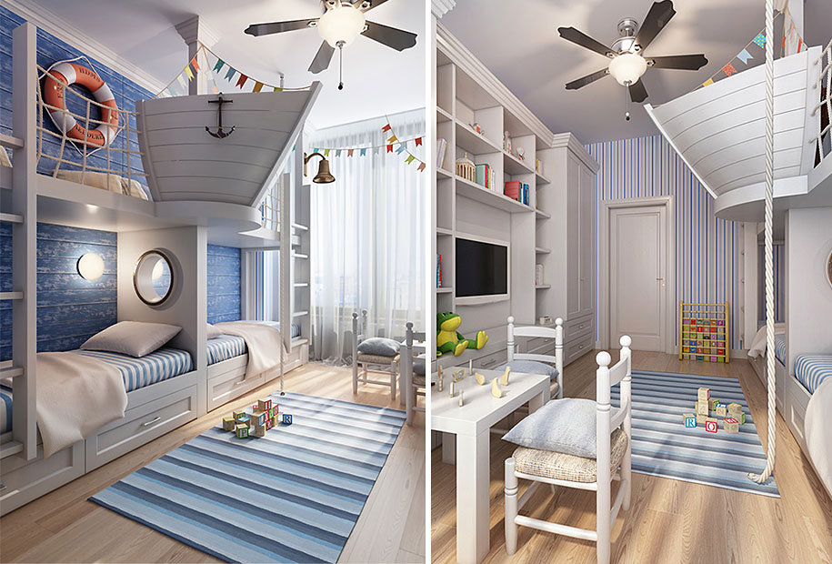 28 cool and fun bedroom interiors for kids designbump
