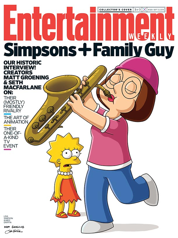 The Simpsons And Family Creators Draw Each Other DesignBump