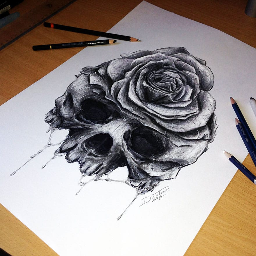 17 Expressive Pencil Drawings By Dino Tomic -DesignBump