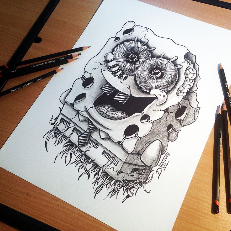 Drawing: 17 Expressive Pencil Drawings By Dino Tomic -DesignBump