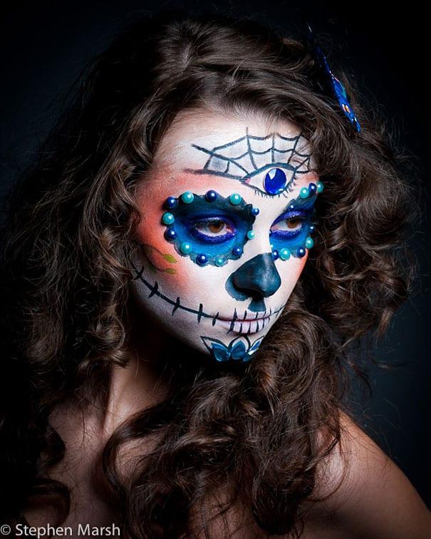 22 Breathtaking Dia De Los Muertos Make-up Art -DesignBump