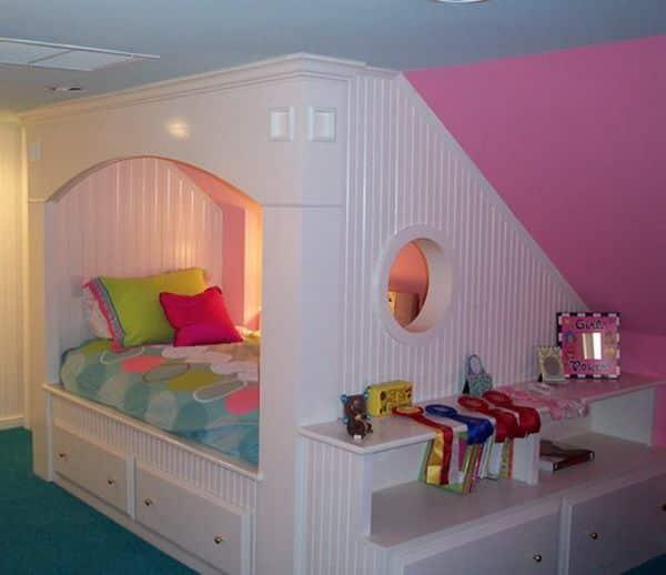 Kids Rooms Climbing Walls And Contemporary Schemes: 30 Smart Teenage Girls Bedroom Ideas -DesignBump