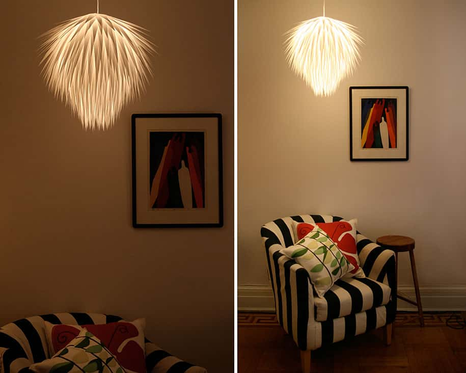 33 DIY Lighting Ideas Lamps Chandeliers Made From Everyday