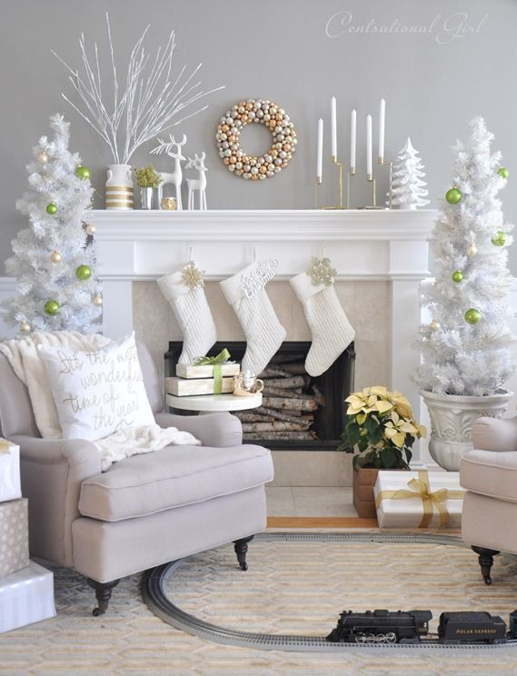 Christmas Decorations Living Room 41 christmas decoration ideas for your living room -designbump