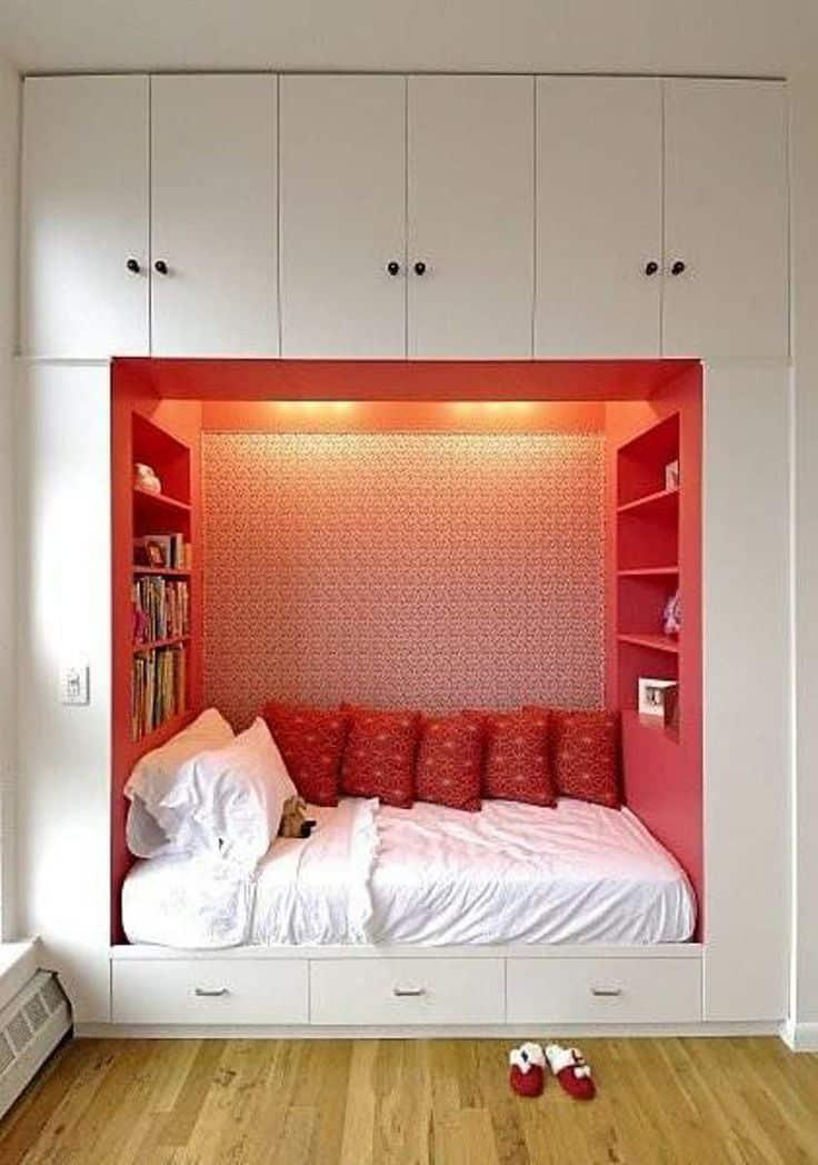 53 Small Bedroom Ideas To Make Your Room Bigger -DesignBump