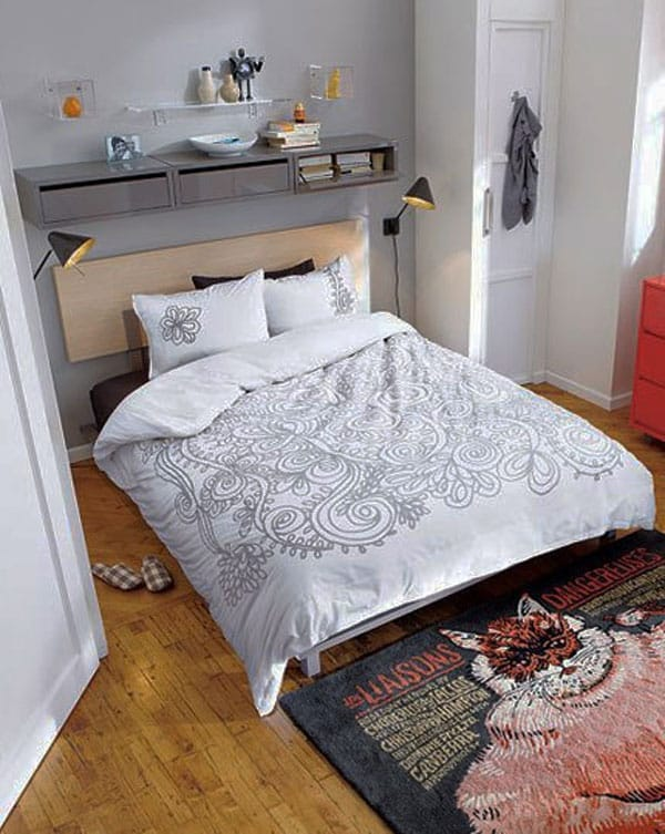 53 Small Bedroom Ideas To Make Your Room Bigger -Design Bump