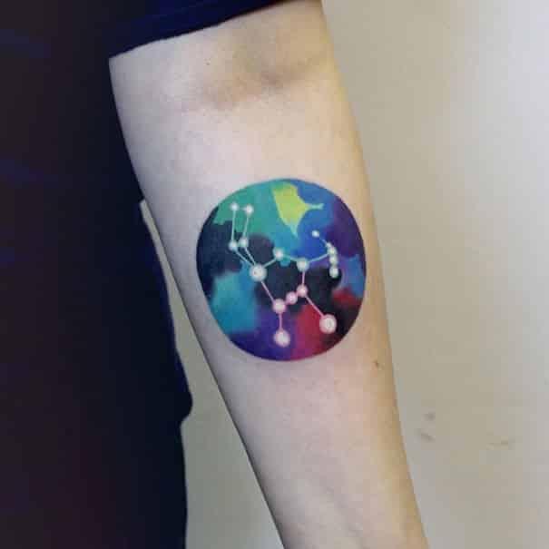 star chart tattoos