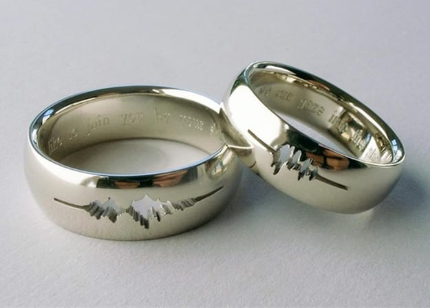 i do waveform cutout ring - Coolest Wedding Rings