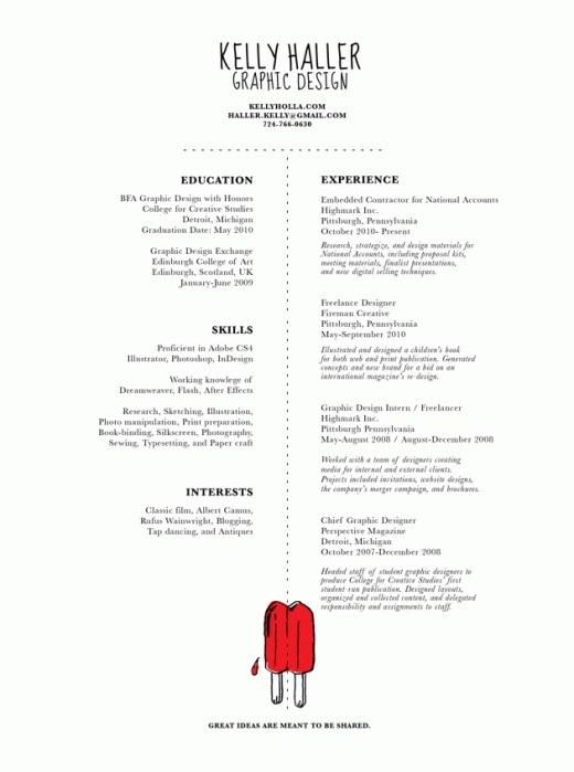27 minimalist examples of rsum designs designbump