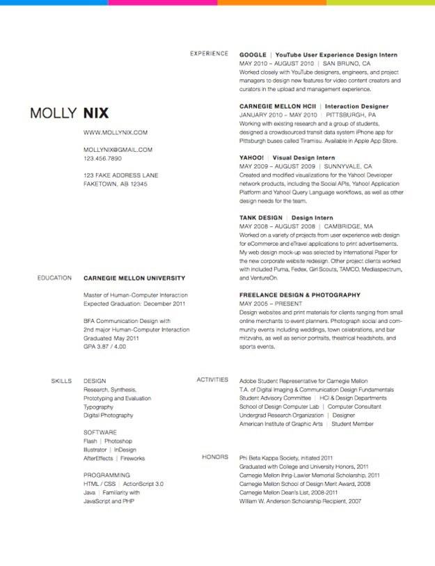 27 Minimalist Examples of Résumé Designs -DesignBump