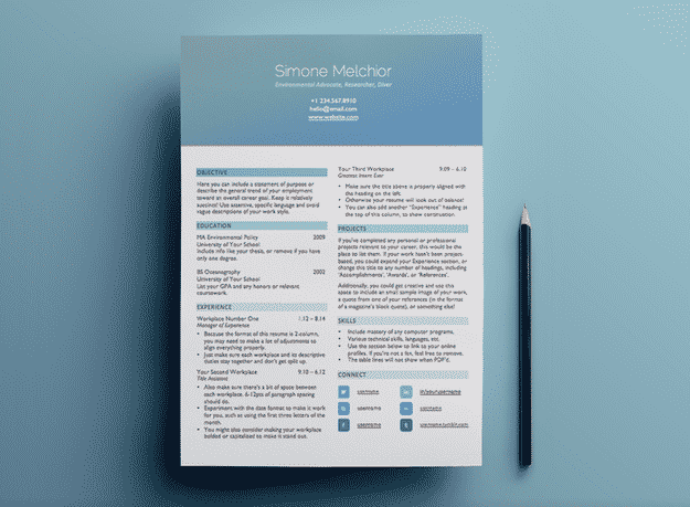 heres a beautiful less graphically intense header option - Free Resume Design