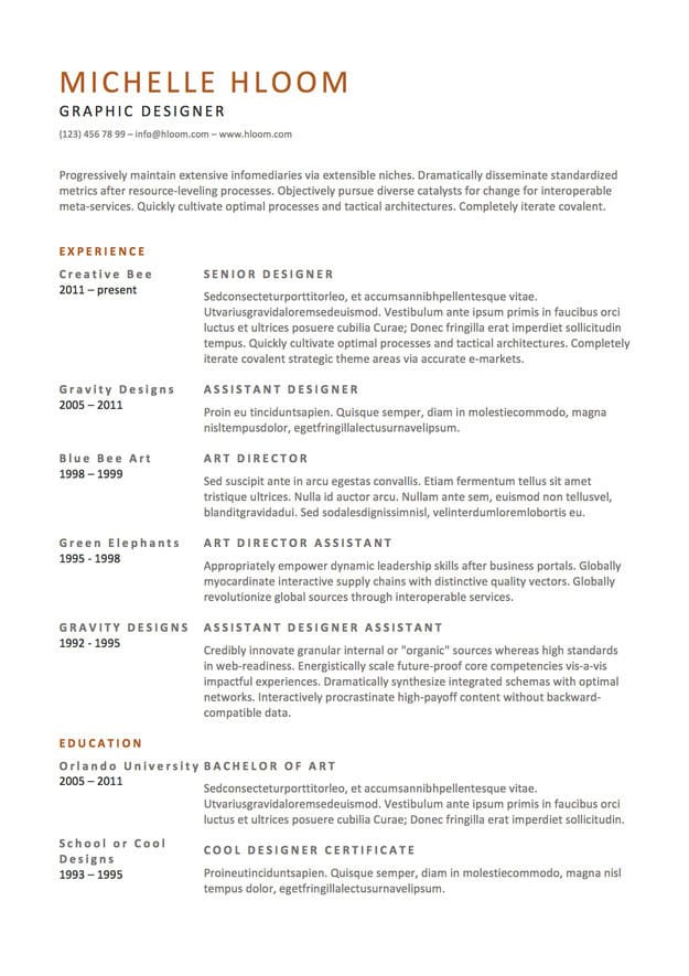 22 Totally Free Résumé Designs For Job Hunters -Designbump