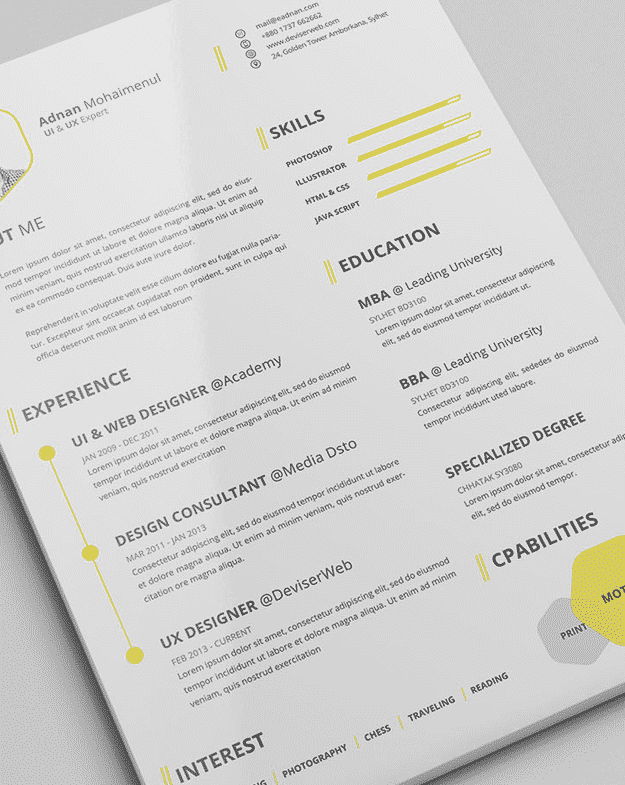 2 a rsum acts as your first impression on a potential employer this beautifully designed one is a good first impression to make