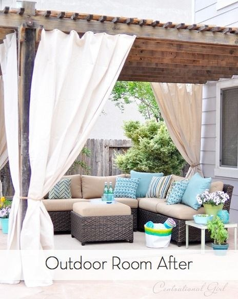 Add curtains to your deck or patio for a little privacy.