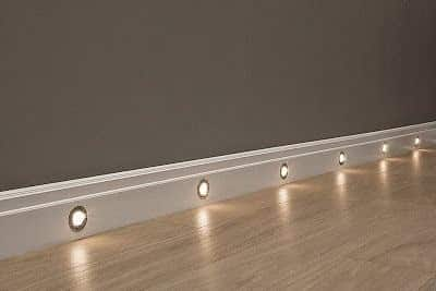 Add recessed hallway or basement lights are a much more polished alternative to night lights.